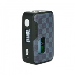 Arctic Dolphin Anita 100W Squonk BF TC Mod:Grey Frame(ABS)-Square Grid Leather